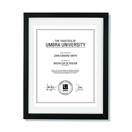 umbra document frame 11x14 inch modern picture frame designed to display a floating 85x11 - Modern Picture Frame