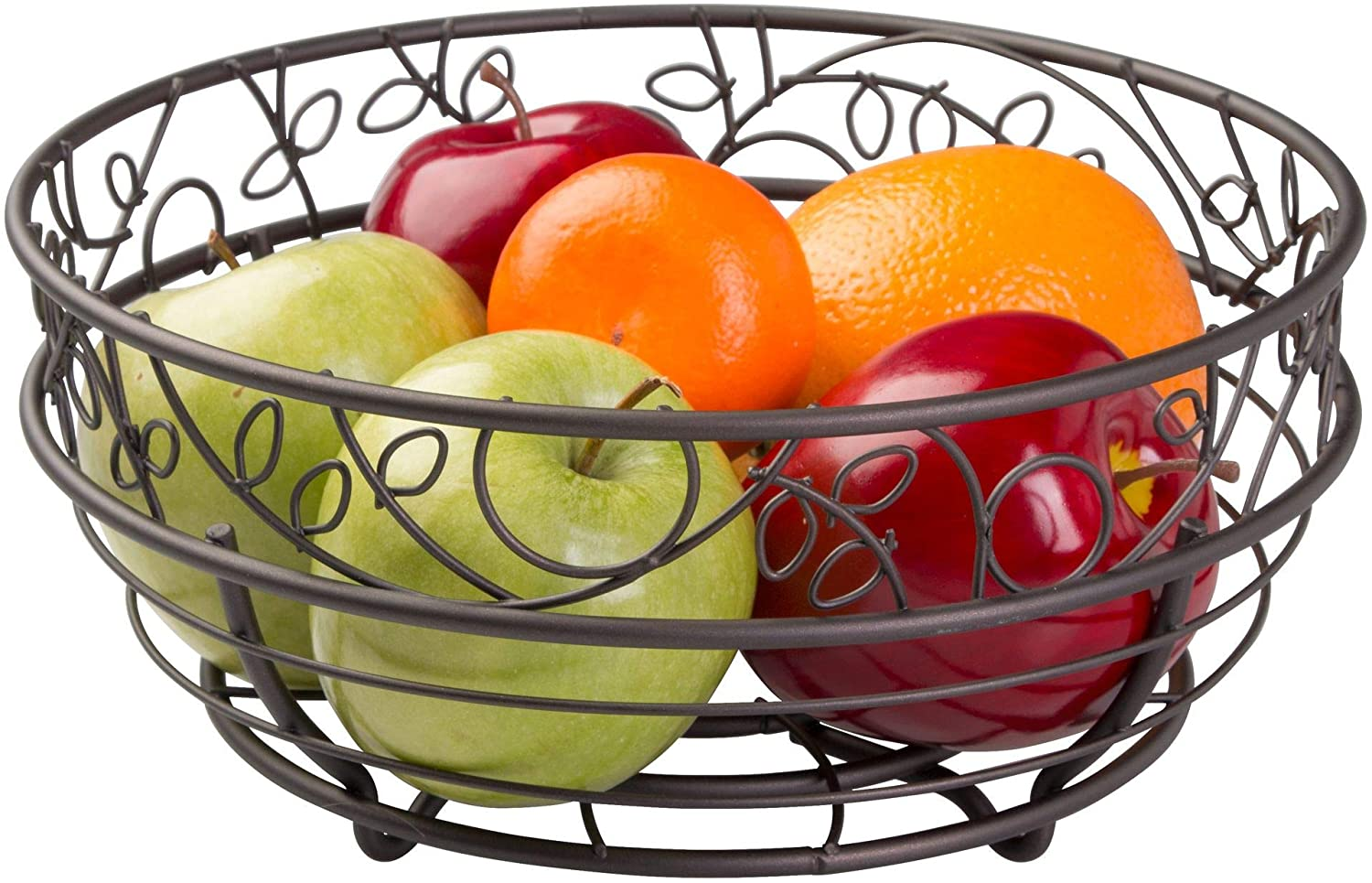 Idesign Twigz Wire Fruit Bowl Centerpiece For Kitchen And Dining Room Countertops Tables Buffets Refrigerators Bronze Home Kitchen