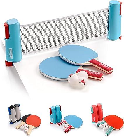 Set Ping Pong 1 Red 2 Raquetas 2 Pelotas Neto para Tenis de Mesa ...
