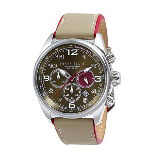 9ce9db6b7edf4 Perry Ellis GT Men Chronograph 44mm Quartz Watch 01004-01: Amazon.co.uk:  Watches