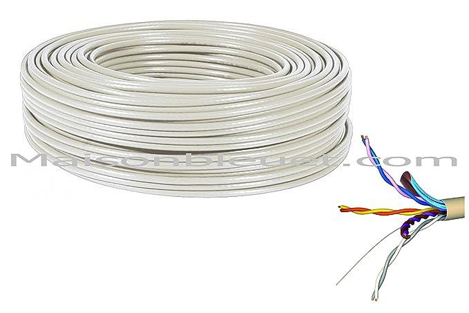 Cable de PTT 299, longitud 25 m, blindado, Telefónica y ADSL
