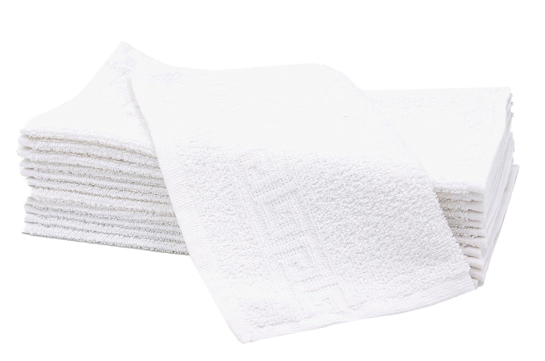 "ZOLLNER® set di 12 lavette/asciugamani in spugna pregiata, bianco, misura ca. 30x30 cm, 100% cotone, disponibili in altri colori, direttamente dallo specialista per alberghi, serie ""Korfu"" serie Korfu"