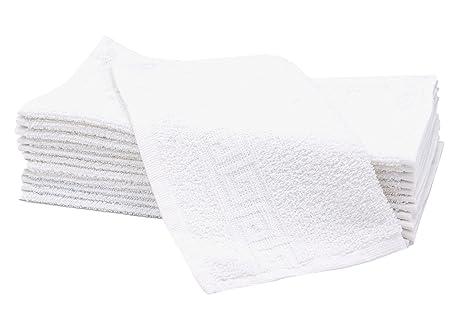 ZOLLNER 12 Toallas para la Cara, 30x30 cm, algodón, Blancas