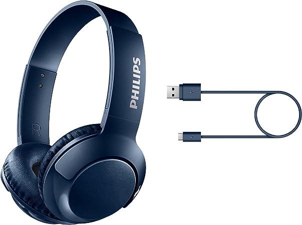 Philips SHB3075BL inalámbrico de auriculares plegables sobre