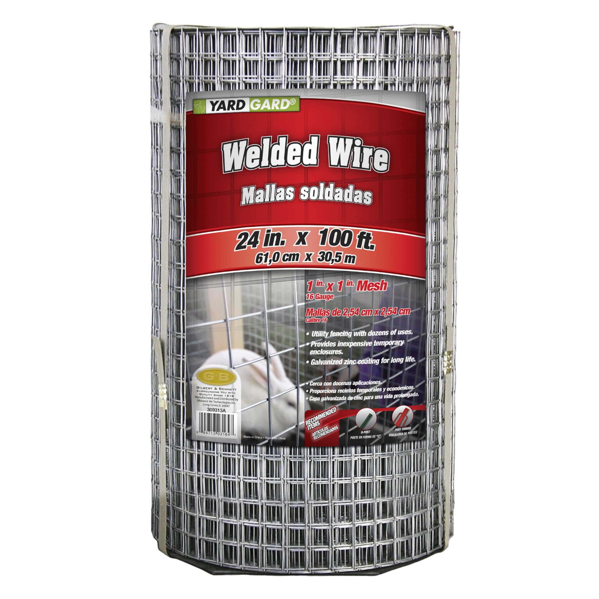 YARDGARD 309313A Welded Wire, 24'' by 100 Foot, Color - Galvanized