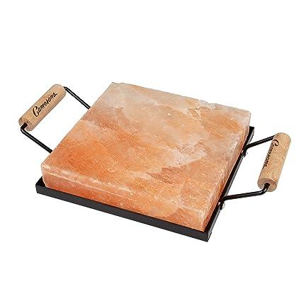 Amazon.com: Losa de roca de sal del Himalaya con soporte ...