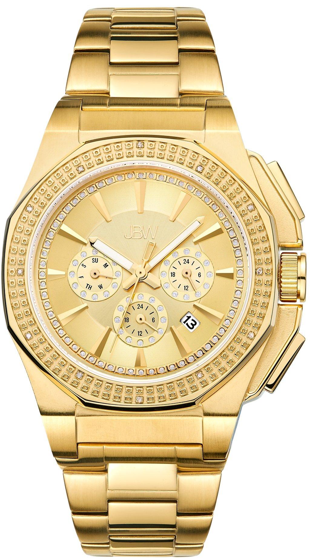 "Jbw Men's J6329B ""Knox"" Stainless Steel Chronograph Diamond Watch 2"