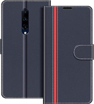 COODIO Funda OnePlus 7 Pro con Tapa, Funda Movil OnePlus 7 Pro, Funda Libro OnePlus 7 Pro Carcasa Magnético Funda para OnePlus 7 Pro, Azul Oscuro/Rojo: Amazon.es: Electrónica
