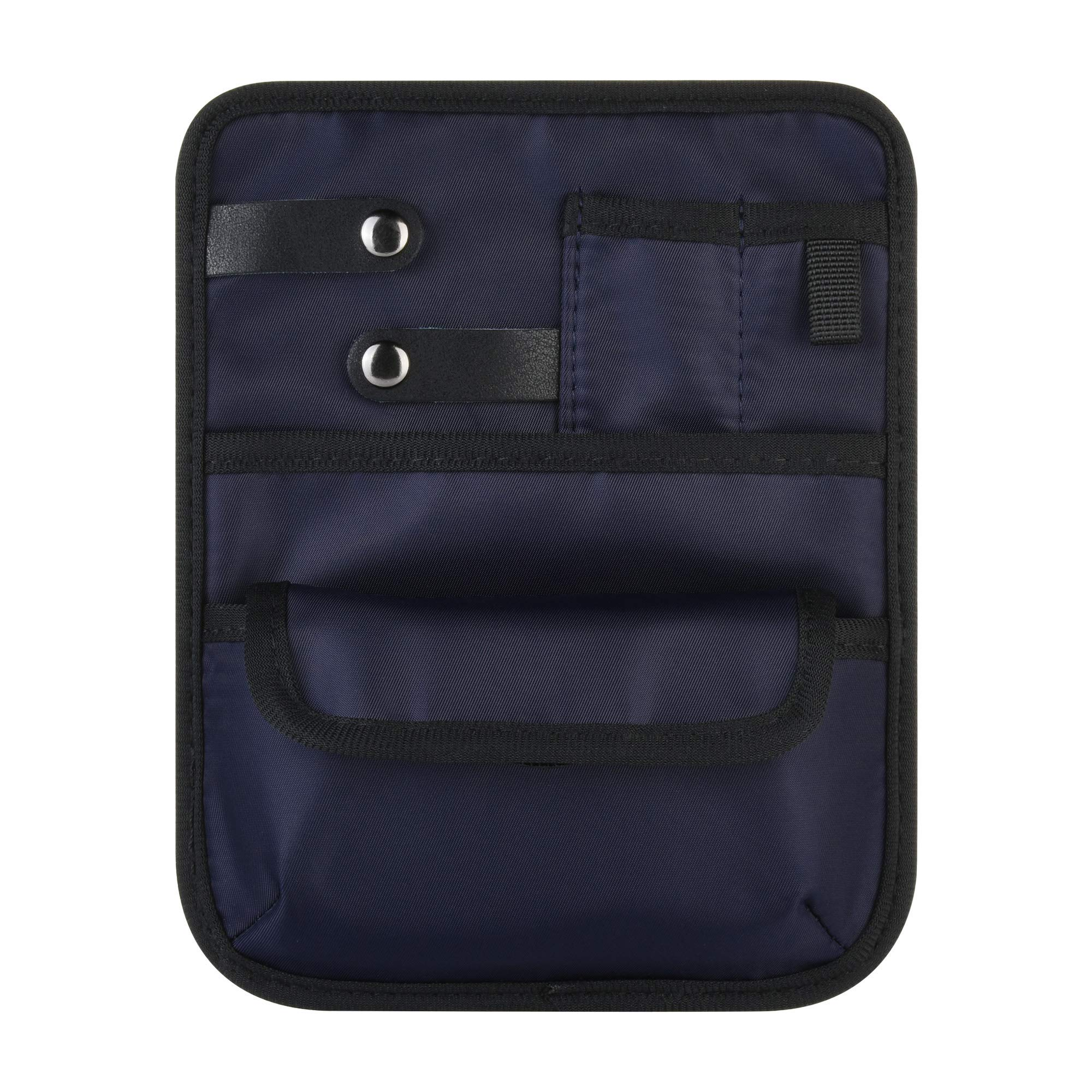 Beautyflier Nylon 4 Pockets Nurse Organizer Bag Pouch for Accessories Tool Case Medical Care Kit (CASE ONLY) (Dark Blue (6 Pocket))