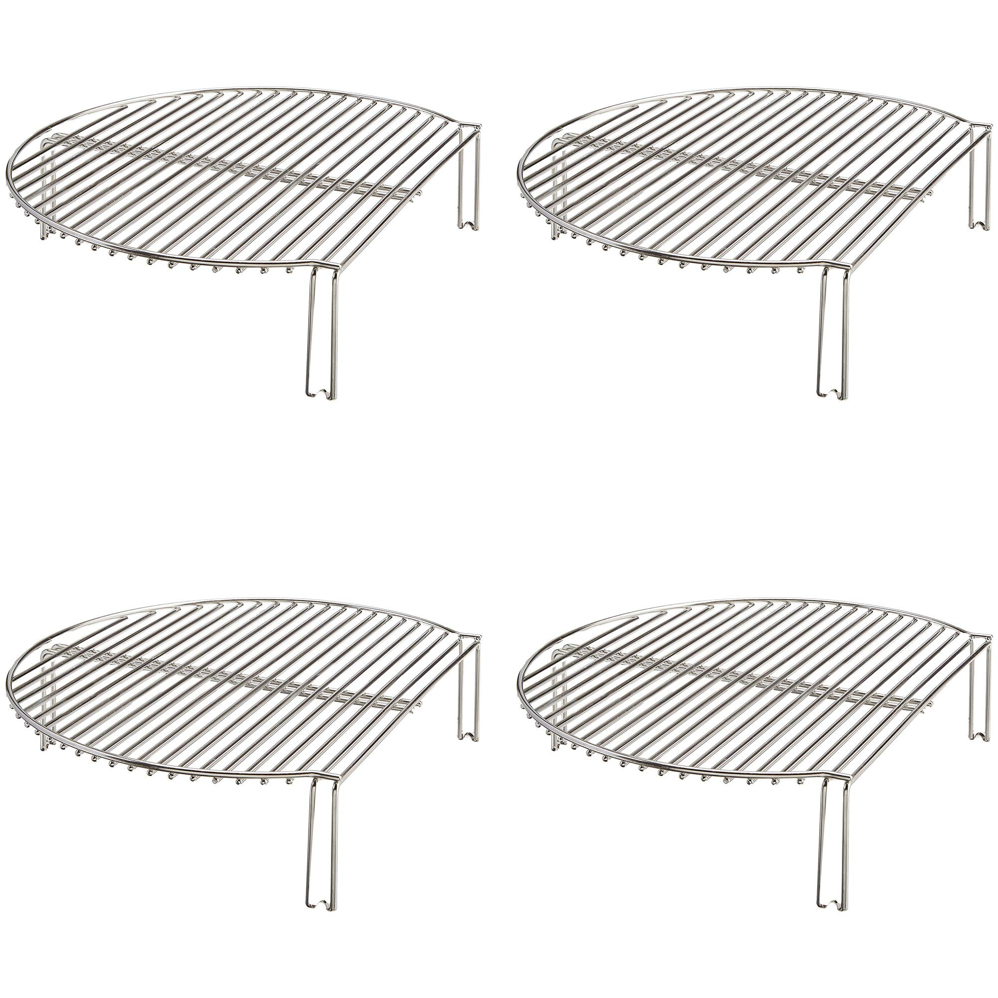 Kamado Joe Classic Joe Stainless Steel Grill/Smoker Expander Cook Rack (4 Pack) by Kamado Joe