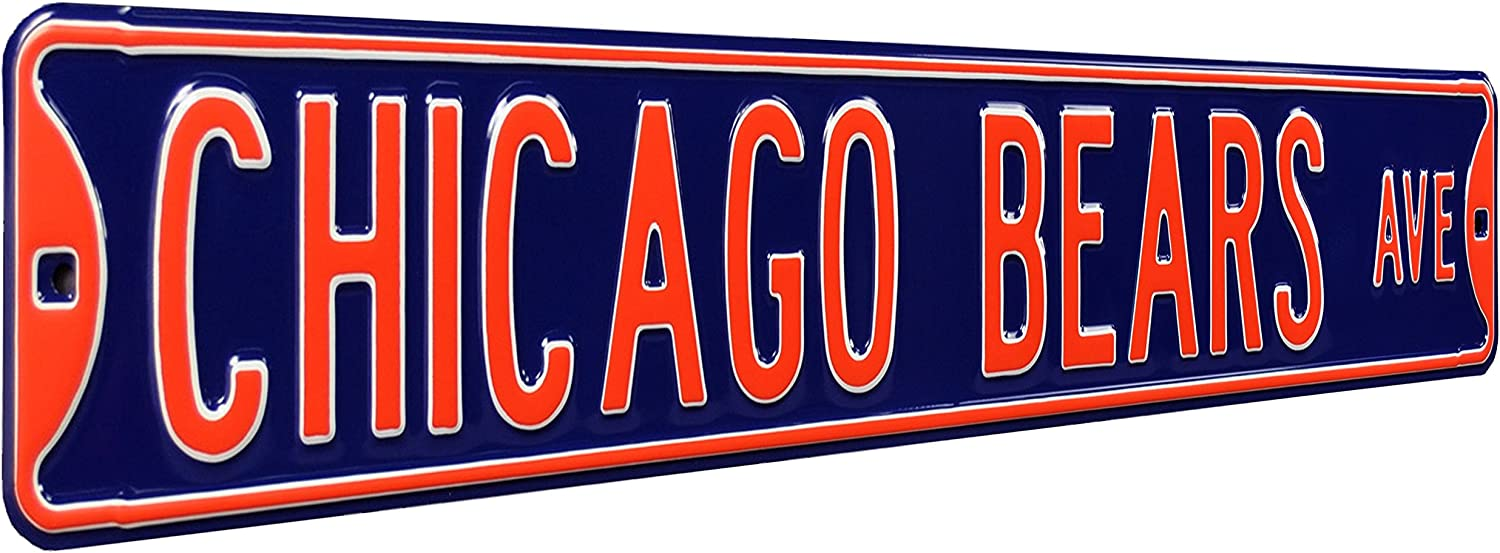 B0001LSB04 Fremont Die NFL Football Metal Wall Decor- Large, Heavy Duty Steel Street Sign, Vintage Home Decor for Office Decorations, Kids Room, and Man Cave Accessories 81gkYHDWx2BL