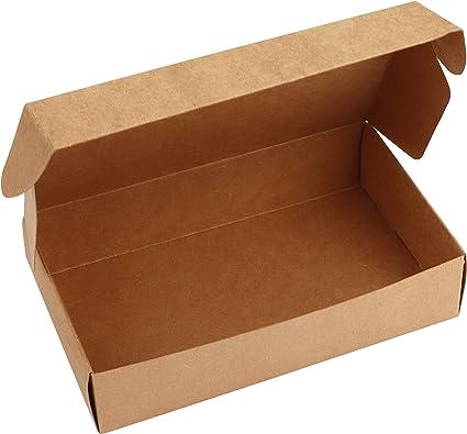 Kurtzy Kraft Papel Cajas de Regalo (Pack de 10) -19 x 11 x 4,5cm Marrón