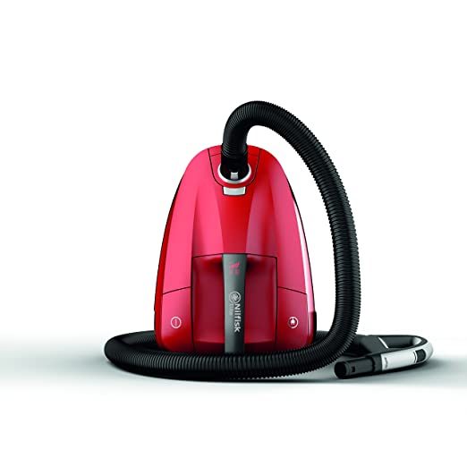 Nilfisk Aspirador de Trineo con Bolsa Rojo Elite RCL14E08A2, 450 W, 3.2 litros, 68 Decibelios, Plástico, Red
