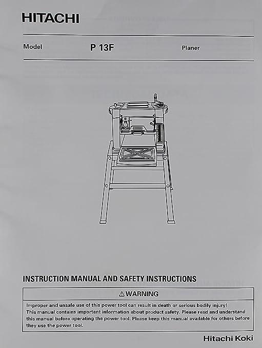 hitachi power tool manuals