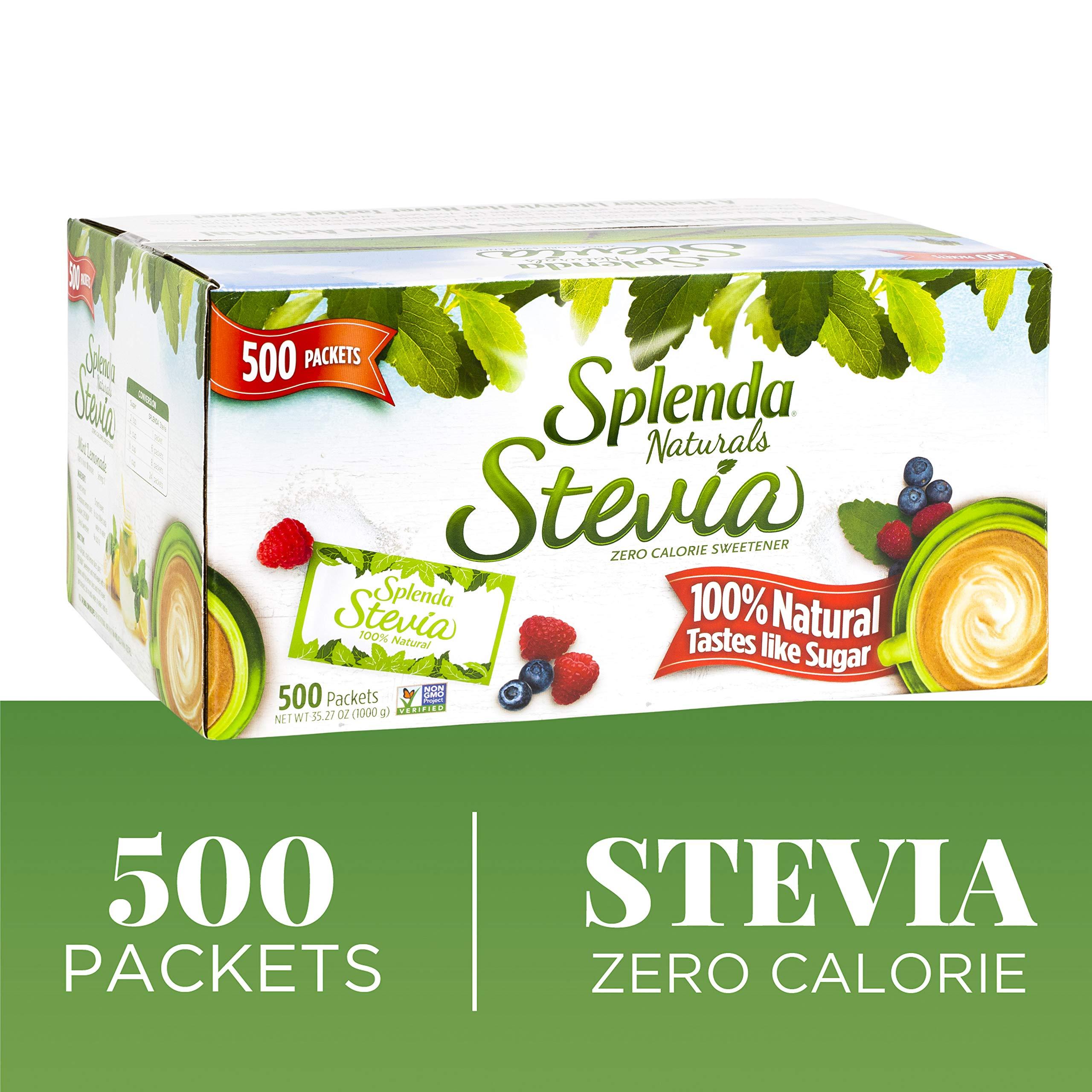 Splenda Naturals Stevia Sweetener Packets, 500 Ct -- Zero Calorie Stevia Sweetener. 100% Natural, Nothing Artificial, Best Tasting Stevia, No Bitter Aftertaste. Taste of Sugar Without the Calories. by Splenda