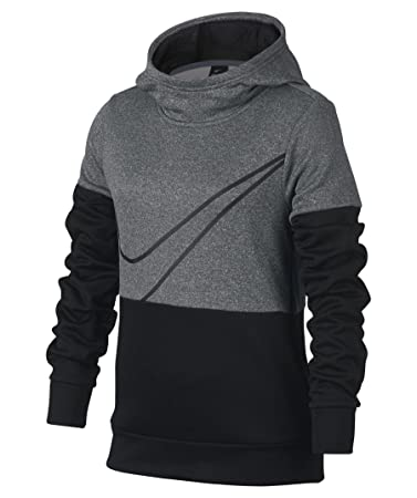 Nike G Nk Po Therma GX Sweater Mädchen, grau (Carbon Heather