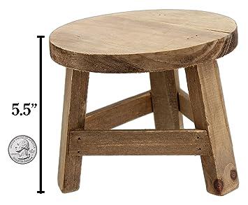 Brilliant Park Hill 5 5 X 7 Wooden Mini Stool Display Stand Beatyapartments Chair Design Images Beatyapartmentscom
