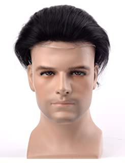Lordhair Human French Lace Hair Replacement System With PU On Sides And Back