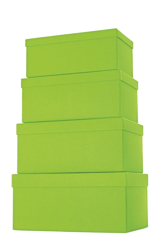 Stewo Geschenkboxen-Set Kartonage, 4-er Satz mit mit mit Rillenprägung, rot B00GU910UE | Umweltfreundlich  5624e3