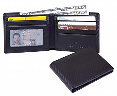 f50ad3ce931d Lositto RFID Blocking Top Grain Leather Wallet for Men-Excellent as Travel  Bifold