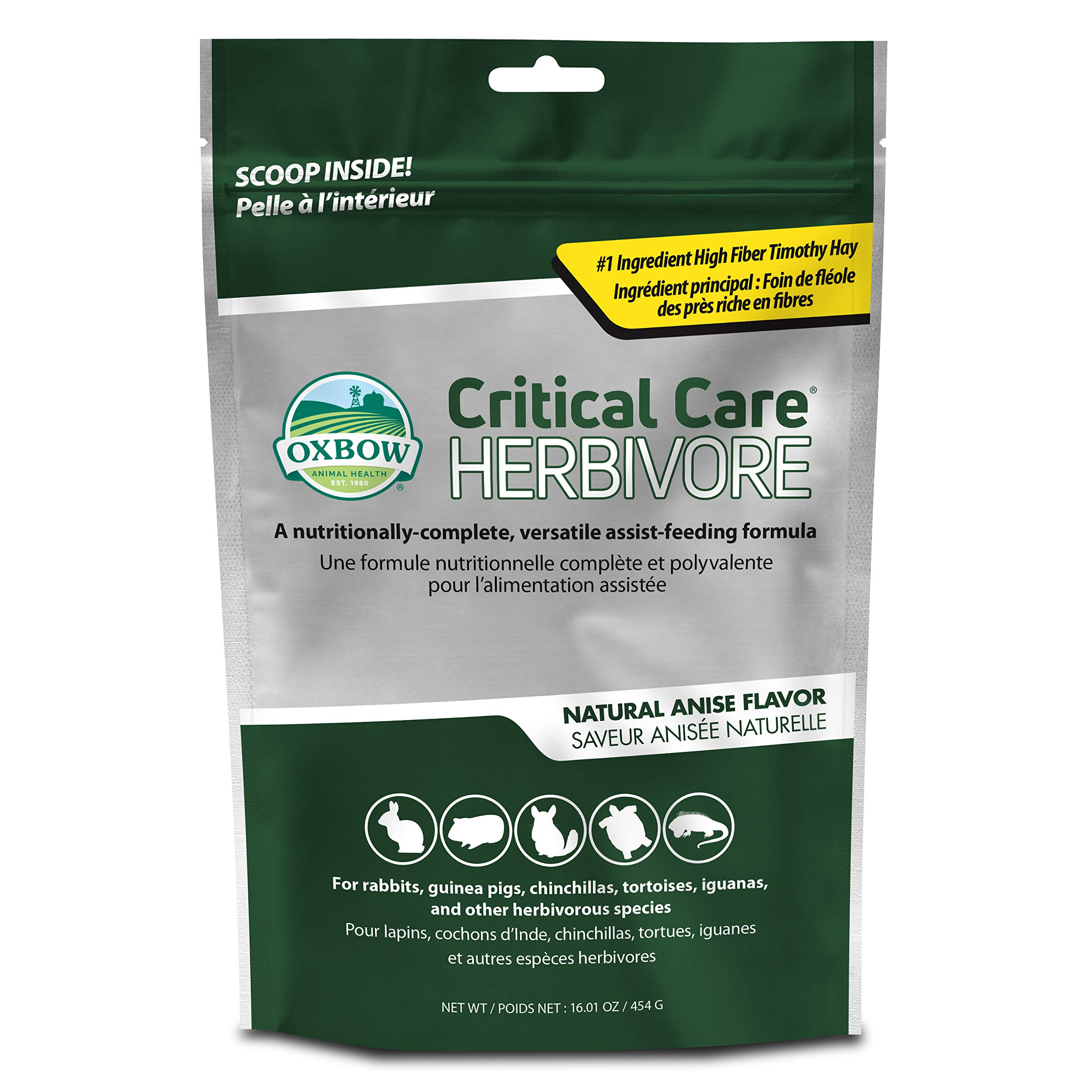Oxbow Animal Health Critical Care, Herbivore, Anise Flavor, 454 Gram Bag, 70104