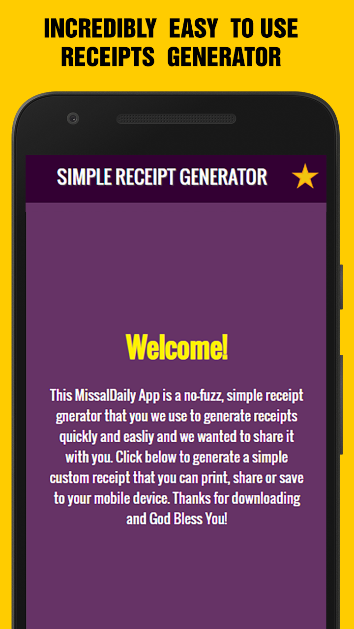 Easy Receipts Generator, Receipt & Invoice Maker: Amazon ca