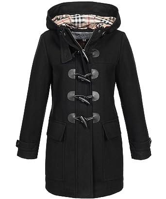 Neuankömmling Modestil von 2019 gut aussehen Schuhe verkaufen SOVENTUS Damen Mantel Herbst Wollmantel Dufflecoat ...