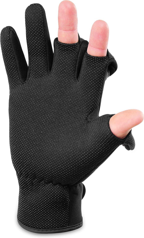 und Winddichte Angel Handschuhe Winterhandschuhe Fishingsports Anglerhandschuhe 2,5 mm Titanium-Neopren normani Wasser
