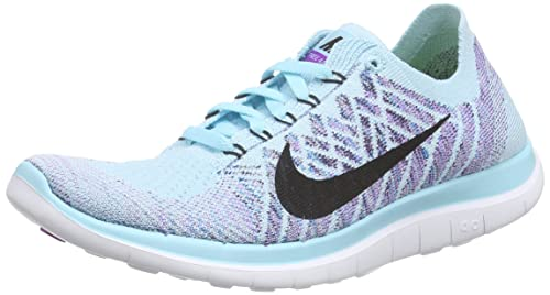 Details about Nike Free 4.0 Flyknit Running Shoes Blue Training Athletic Sneakers Womens 7.5