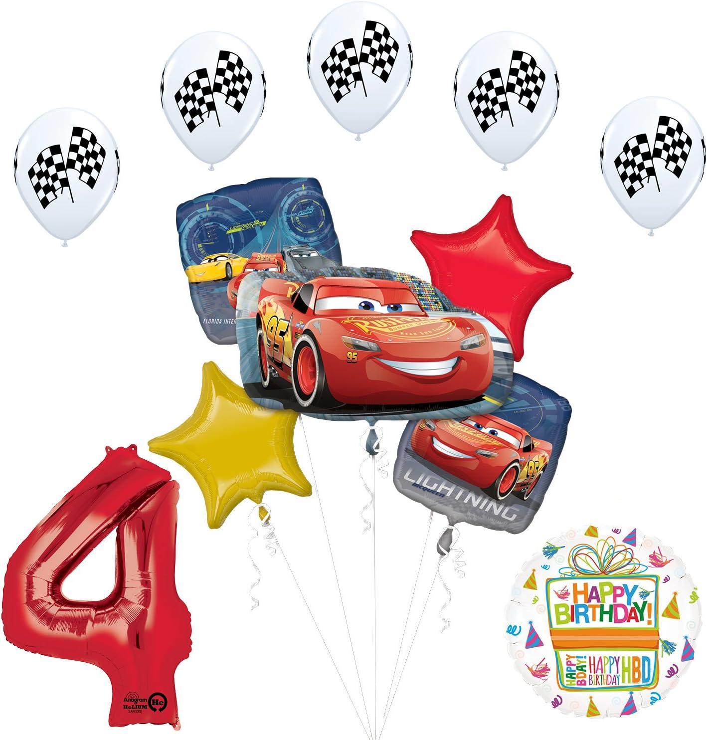 "Disney Cars 3 Rayo Mcqueen /& Mater 5/"" X 10 Globos Qualatex Látex"