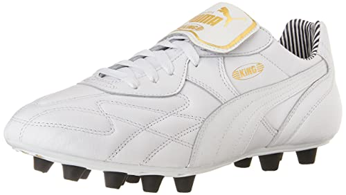 04e3509460fd PUMA Men's King Top Stripe Di FG Soccer Cleats, White/White/New Navy ...