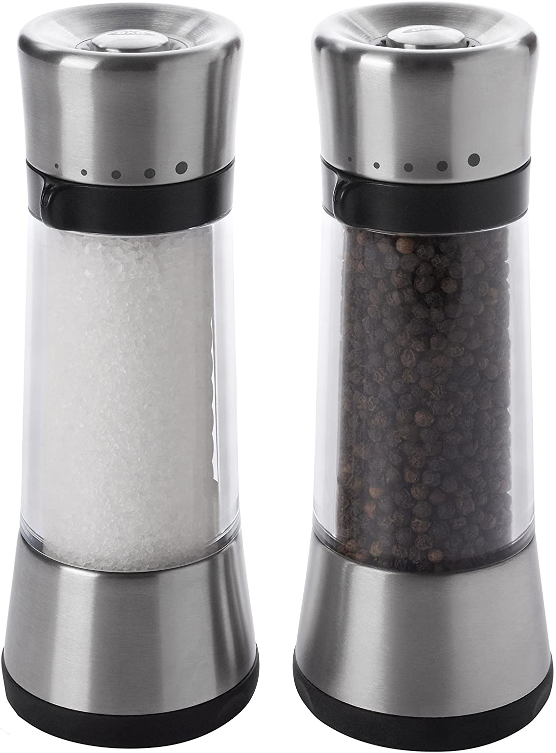 OXO Good Grips Salt and Pepper Mill Set with Adjustable Grind Size