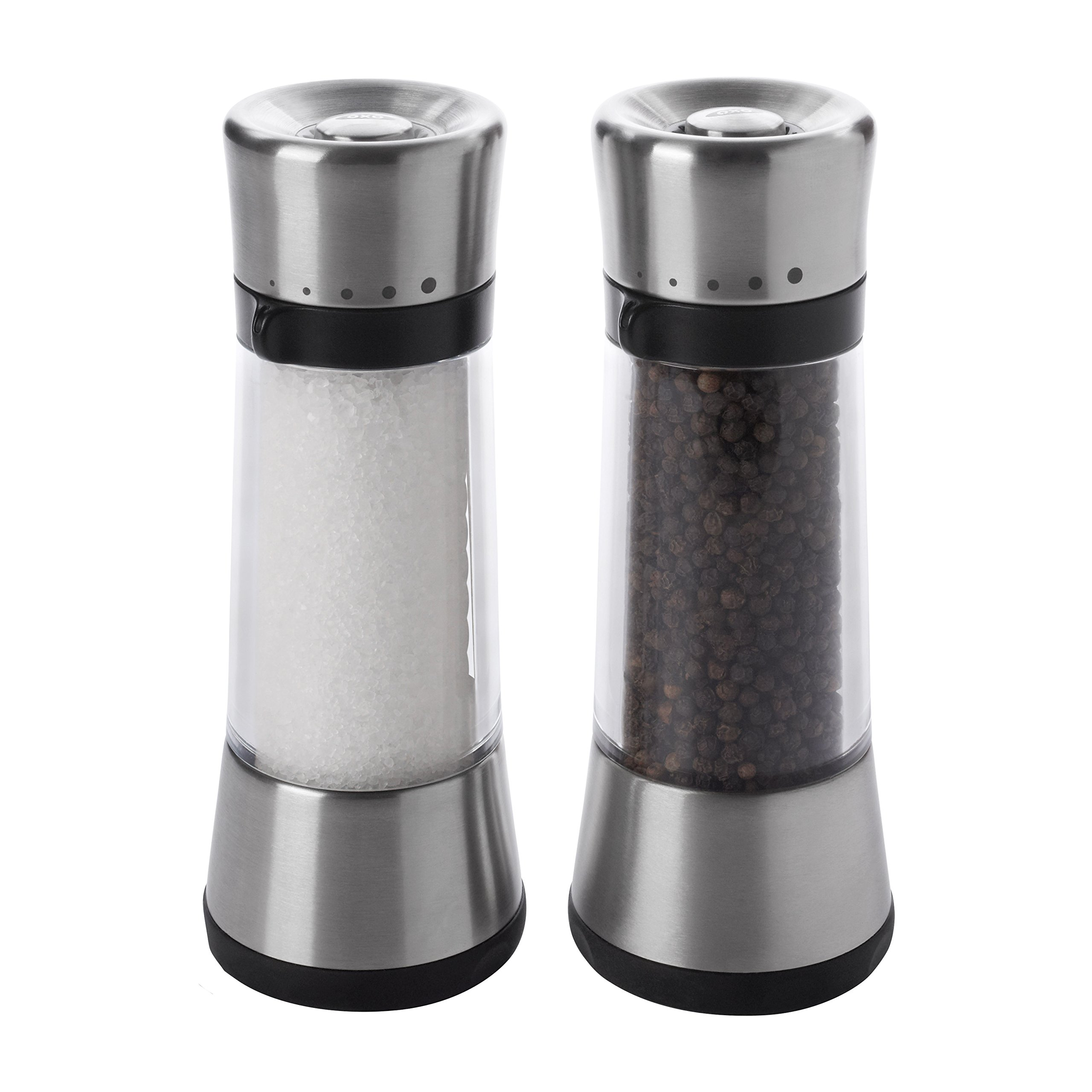 OXO Good Grips Lua Salt and Pepper Mill Set with Adjustable Grind Size