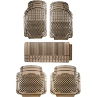 Sepia Universal Car Foot Mat (Set of 5, Smoke)