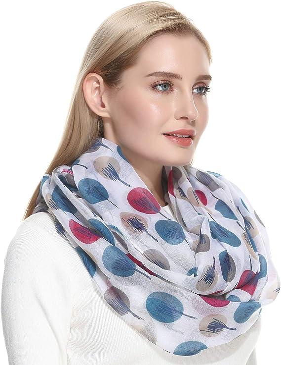 New Ladies Viscose Dreamy Multi Coloured Large Polka Dot Pattern Scarf