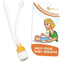 Baby Nasal Aspirator by BabyBubz - Best Hospital Grade Nose Sucker to Clear Mucous & Help Child Breathe - The Booger…