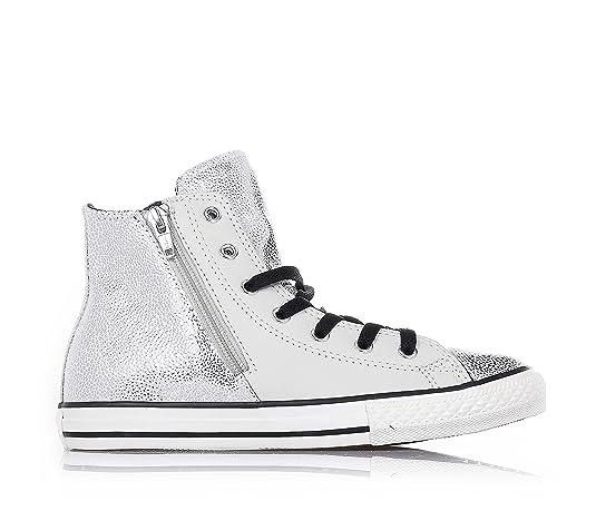 Converse All Star Hi Side Zip Leather - 655161c -  Amazon.it  Scarpe e borse f77b6c954c1