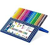 Staedtler ergosoft 157 SB24 Buntstifte, erhöhte Bruchfestigkeit, dreikant, Set mit 24 brillanten Farben, rutschfeste Soft-Oberfläche, kindgerecht nach DIN EN71, FSC-Holz