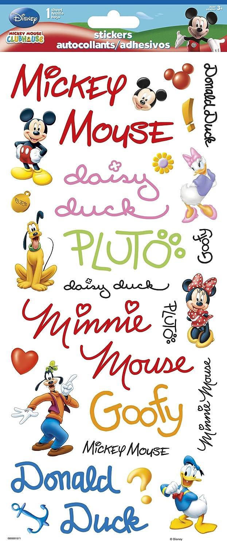Sandylion Mickey Autographs Clear Sticker 5.5x12