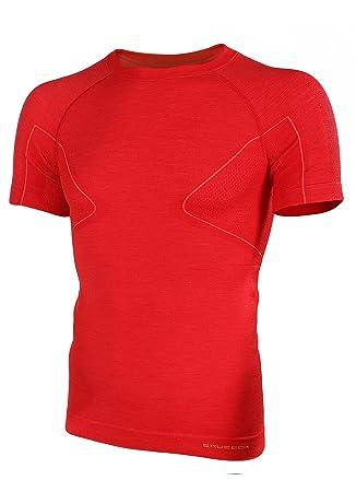 BRUBECK® ss11710 ACTIVE WOOL Camiseta de hombre | Merino | Sport | Fitness | Función