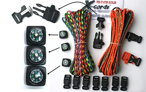 Amazon X Cords Paracord Bracelet Kit With Fire Starter Buckle