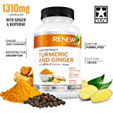 Ginger Turmeric Curcumin Supplement Capsules: Organic Joint Support & Anti Inflammatory Pills aid Fibromyalgia & Arthritis Pain Relief - Natural Antioxidant Supplements with Bioperine & Black Pepper