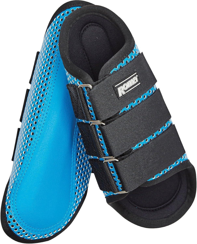 Black Roma Air Flow Shock Absorber Splint Boots