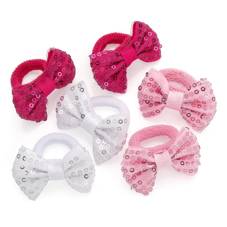Élastiques à cheveux avec nœuds papillon - Pour enfant (fille) - Nœuds: 4, 5 cm Top Kids Accessories