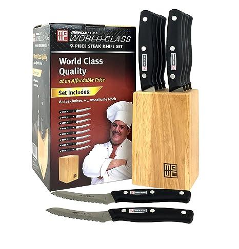 Miracle Blade World Class - Juego de cuchillos de carne de ...