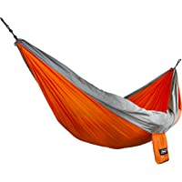Camco 51241 Orange/Gray Double 400lb Capacity Camping Hammock