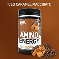 OPTIMUM NUTRITION ESSENTIAL AMINO ENERGY, Iced Caramel Machiatto, Preworkout and Essential Amino Acids with Green Tea and Green Coffee Extract, 30 Servings