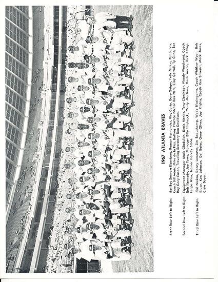 1967 Atlanta Braves Stadium Team Issue Picture 8x10 Nm