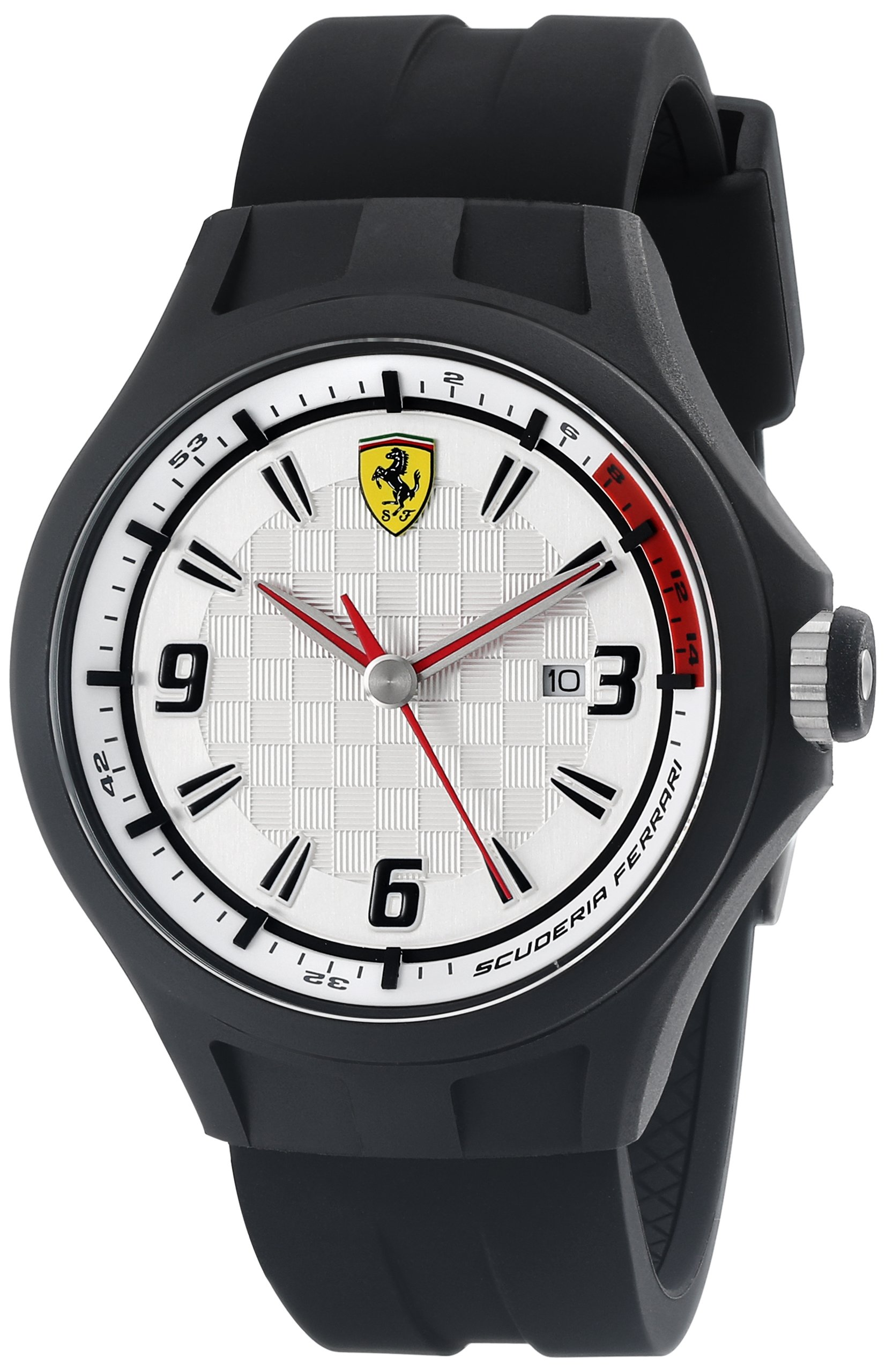 Ferrari Men's 0830001 Pit Crew Analog Display Quartz Black Watch