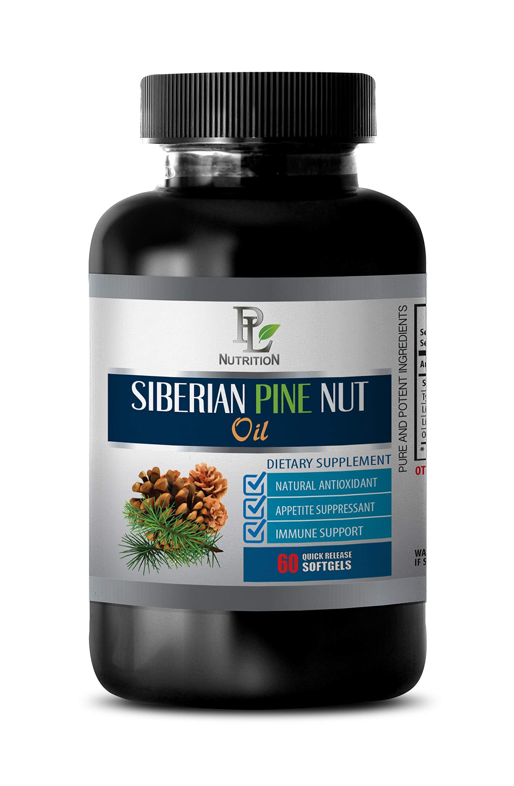 Immunity Vitamins for Adults - Siberian Pine NUT Oil - Dietary Supplement - Pine nut Oil Supplement - 1 Bottle 60 Softgels